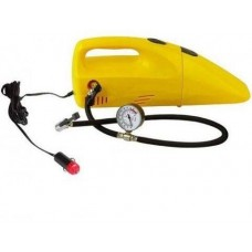 Car vacuum cleaner and two wheel blower in one device