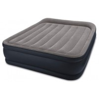 Intex 64136 Queen Deluxe Pillow Rest AIRBED W/Fiber-TECH BIP